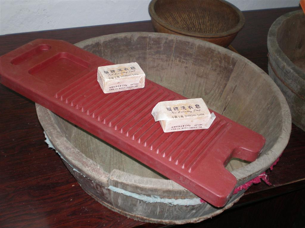 old style cleaning culture 旧式洗衣板 旧洗衣木盆 a rare a